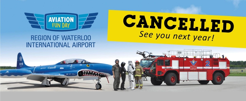 Aviation Fun Day Cancellation Graphic