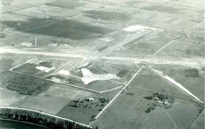 1950 Aerial image YKF Construction