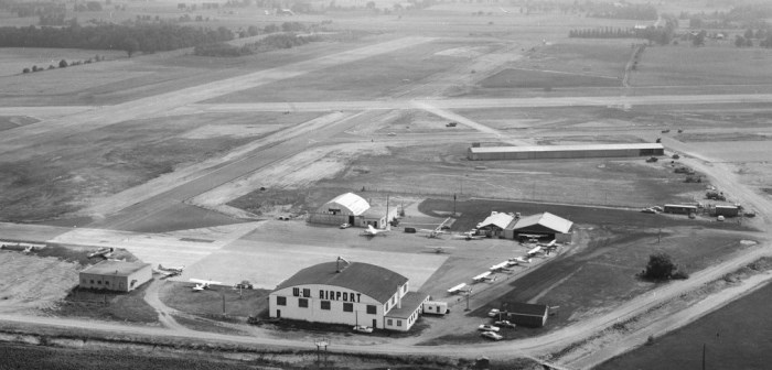 1966 Aerial image Waterloo Wellington Flight Centre