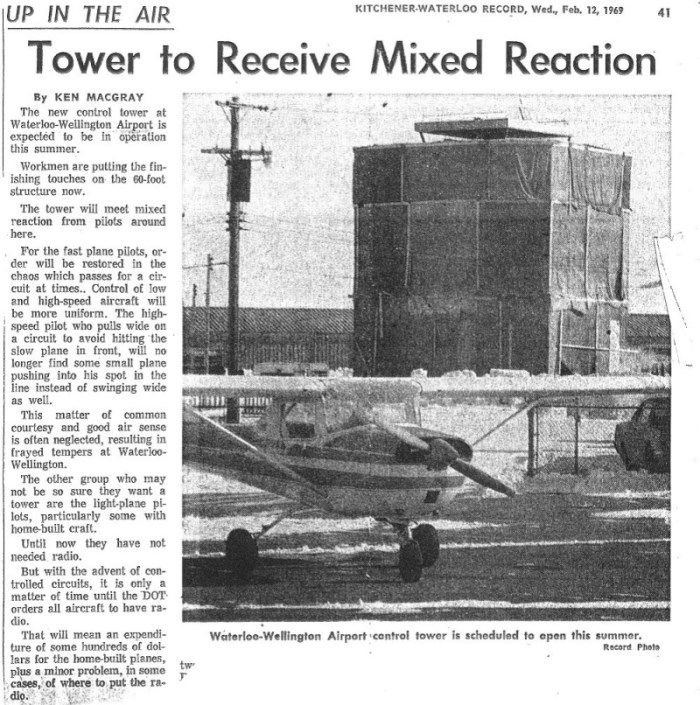 1969 - Record article about new air traffic control tower