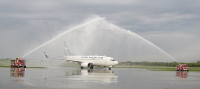 2007 - WestJet launches non-stop daily service to Calgary, Alberta