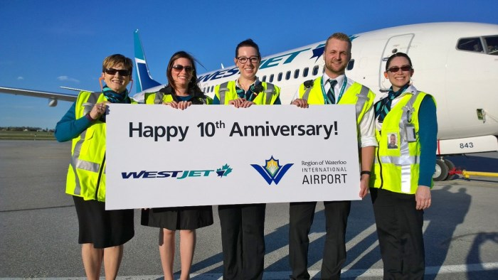 2017 WestJet 10th Anniversary at YKF