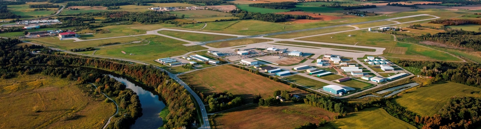 Aerial image of airport